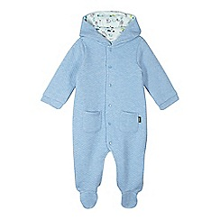 Baker by Ted Baker - Babies blue quilted all in one suit