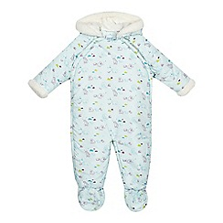Baker by Ted Baker - Babies blue polar print snowsuit