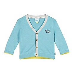 Baker by Ted Baker - Babies blue polar bear cardigan
