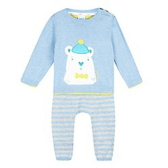 Baker by Ted Baker - Baby boys' light blue jumper and leggings set