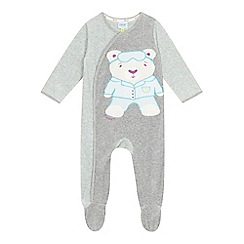 Baker by Ted Baker - Baby boys' grey polar bear sleepsuit