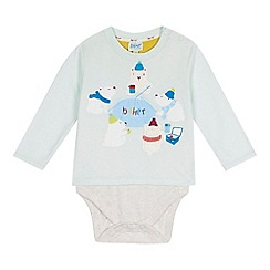 Baker by Ted Baker - Baby boys' aqua polar bear print bodysuit