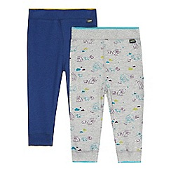 Baker by Ted Baker - Pack of two baby boys' navy and grey jogging bottoms