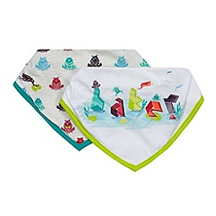 Baker by Ted Baker - Pack of two babies frog print bibs