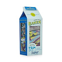 Baker by Ted Baker - Pack of five baby boys' assorted patterned socks in a gift box