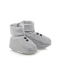 Baker by Ted Baker - Babies grey herringbone booties