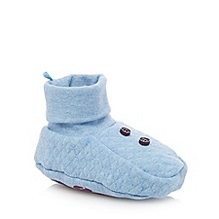 Baker by Ted Baker - Babies blue quilted padder shoes
