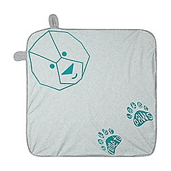 Baker by Ted Baker - Babies light blue bear jersey blanket