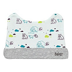 Baker by Ted Baker - Babies pale blue polar bear cap with ears