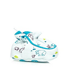 Baker by Ted Baker - Babies light blue polar bear printed padder shoes