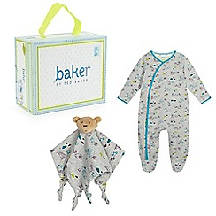 Baker by Ted Baker - Babies' blue sleep suit and comforter in a gift box