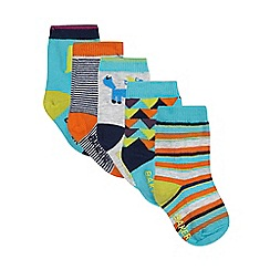 Baker by Ted Baker - Pack of five printed boys' socks