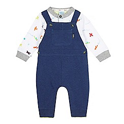 Baker by Ted Baker - Baby boys' white and navy aeroplane top and dungarees set