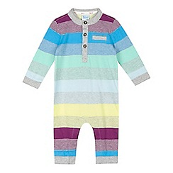 Baker by Ted Baker - Baby boys' grey block striped romper
