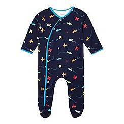 Baker by Ted Baker - Baby boys' navy plane sleepsuit