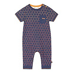 Baker by Ted Baker - Baby boys' navy geometric ombre-effect romper