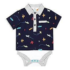 Baker by Ted Baker - Baby boys' navy plane bodysuit