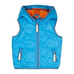 Baker by Ted Baker - Baby boys' blue hexagon padded hooded gilet