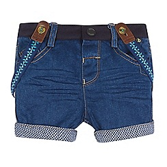 Baker by Ted Baker - Baby boys' dark blue denim shorts and braces set