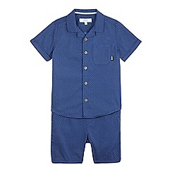Baker by Ted Baker - Baby boys' navy geometric print shirt & shorts set