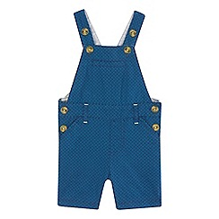 Baker by Ted Baker - Baby boys' blue geometric print twill dungarees