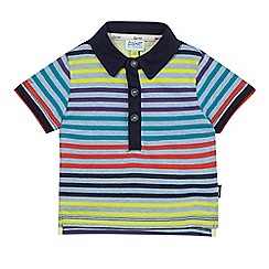 Baker by Ted Baker - Baby boys' blue striped print polo shirt
