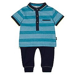 Baker by Ted Baker - Baby boys' blue striped top and jogging bottoms set