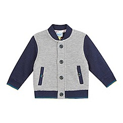 Baker by Ted Baker - Baby boys' grey quilted sweat bomber jacket