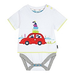 Baker by Ted Baker - Baby boys' white toucan car bodysuit