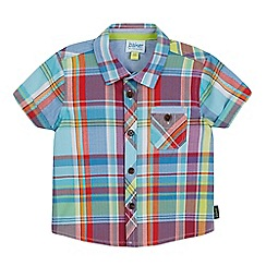 Baker by Ted Baker - Baby boys' blue checked short sleeved shirt