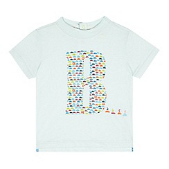 Baker by Ted Baker - Baby boys' light turquoise car logo print top
