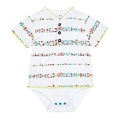 Baker by Ted Baker - Baby boys' white car print bodysuit