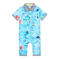 Baker by Ted Baker - Baby boys' blue toucan print romper