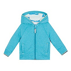 Baker by Ted Baker - Baby boys' turquoise zip through hoodie