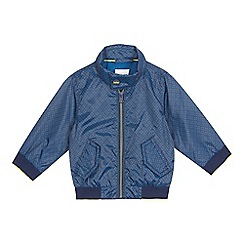 Baker by Ted Baker - Baby boys' navy tiled print Harrington jacket