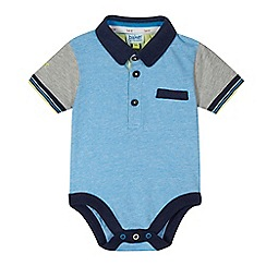 Baker by Ted Baker - Baby boys' blue fine striped polo bodysuit