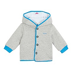 Baker by Ted Baker - Baby boys' grey quilted hoodie