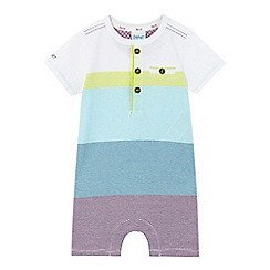 Baker by Ted Baker - Baby boys' multi-coloured fine striped print romper suit