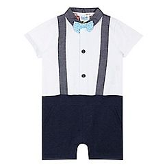 Baker by Ted Baker - Baby boys' white braces romper suit