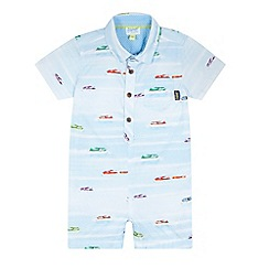 Baker by Ted Baker - Baby boys' light blue airplane print romper suit