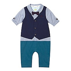 Baker by Ted Baker - Baby boys' light blue waistcoat romper suit