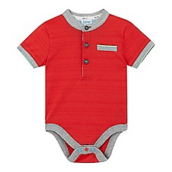 Baker by Ted Baker - Baby boys' red textured stripe bodysuit