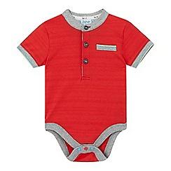 Baker by Ted Baker - Baby boys' red textured stripe bodysuit