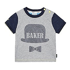 Baker by Ted Baker - Baby boys' grey bowler hat applique t-shirt