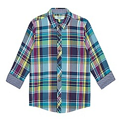 Baker by Ted Baker - Boys' turquoise checked shirt