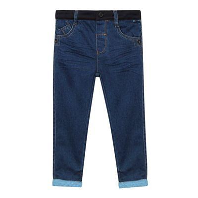 Baker by Ted Baker Boys blue cuffed jeans
