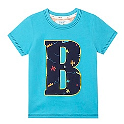 Baker by Ted Baker - Boys' blue plane print t-shirt