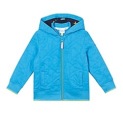 Baker by Ted Baker - Boys' blue quilted hoodie