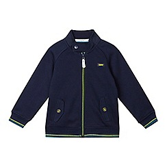 Baker by Ted Baker - Boys' navy Harrington sweat jacket