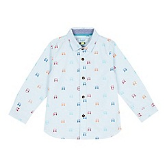 Baker by Ted Baker - Boys' pale blue spotted car print shirt